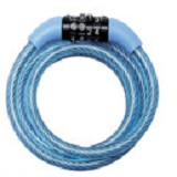 MASTER LOCK Self Coiling Cables with Combination [8143 COL] - Blue - Gembok Kombinasi